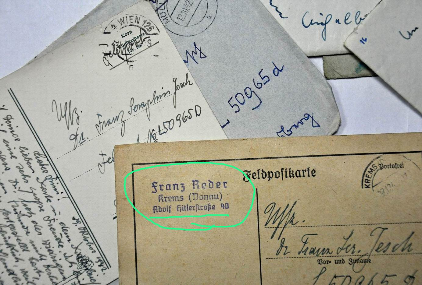 Письмо открытка на немецком
