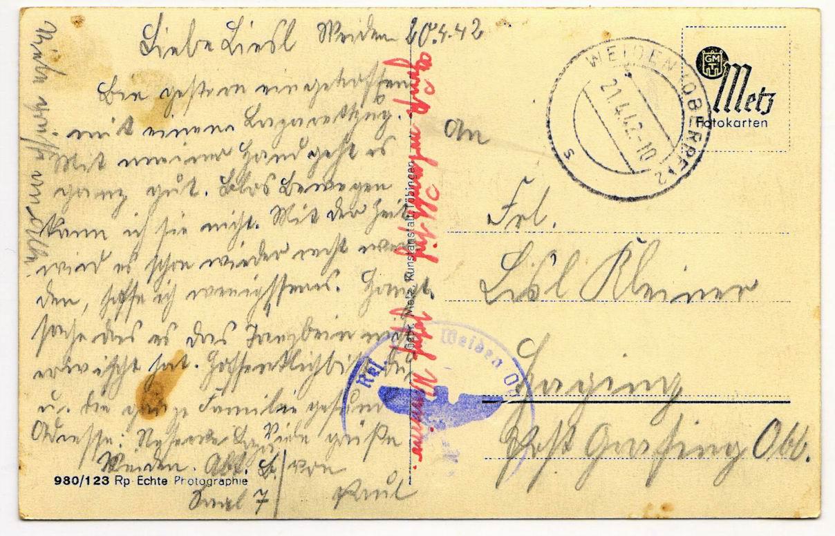 Писать открытку на немецком